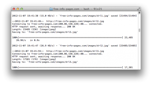 Scraping your own website with wget   mattgadient com
