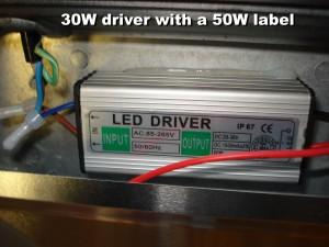 GLW Hydroponic 50W Flood Light - the driver