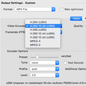 8/10/12-bit HandBrake on Mac OS X