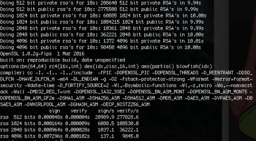 openssl speed rss - E3 3.4Ghz