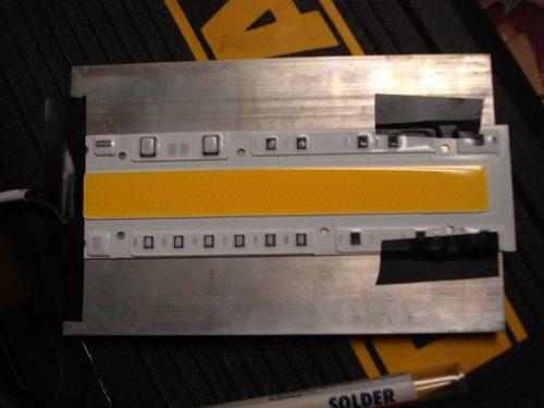 """150W """"Smart IC"""" led (110v) - mounted to heatsink"""