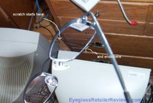 39 Dollar Glasses - Sept 2006 order - Scratch Close-up #2